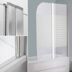 duschabtrennung 133cm glas faltwand badewannen badewannenfaltwand duschwand neu ebay. Black Bedroom Furniture Sets. Home Design Ideas