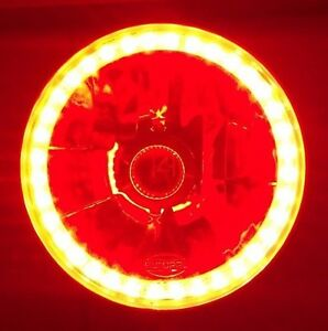 Red-Halo-Headlamp-Chrysler-Valiant-AP5-AP6-VC-VE-VF-VJ-VK-Regal-Jeep-CJ-TJ-JK-SJ