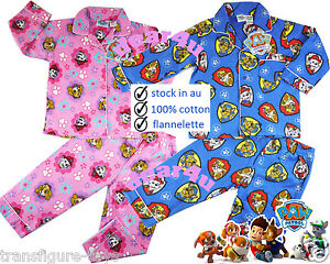 f2f7d3093c01 Paw Patrol boys girls flannelette pjs pyjamas flannel winter sleepwear ...