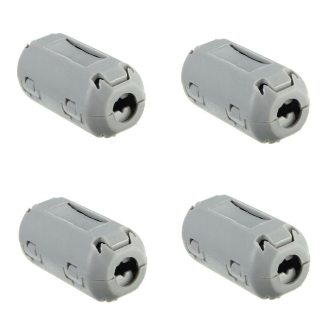 5pcs 9mm Noise Suppressor EMI RFI Clip Choke Ferrite Core Cable Filter Grey、 FT