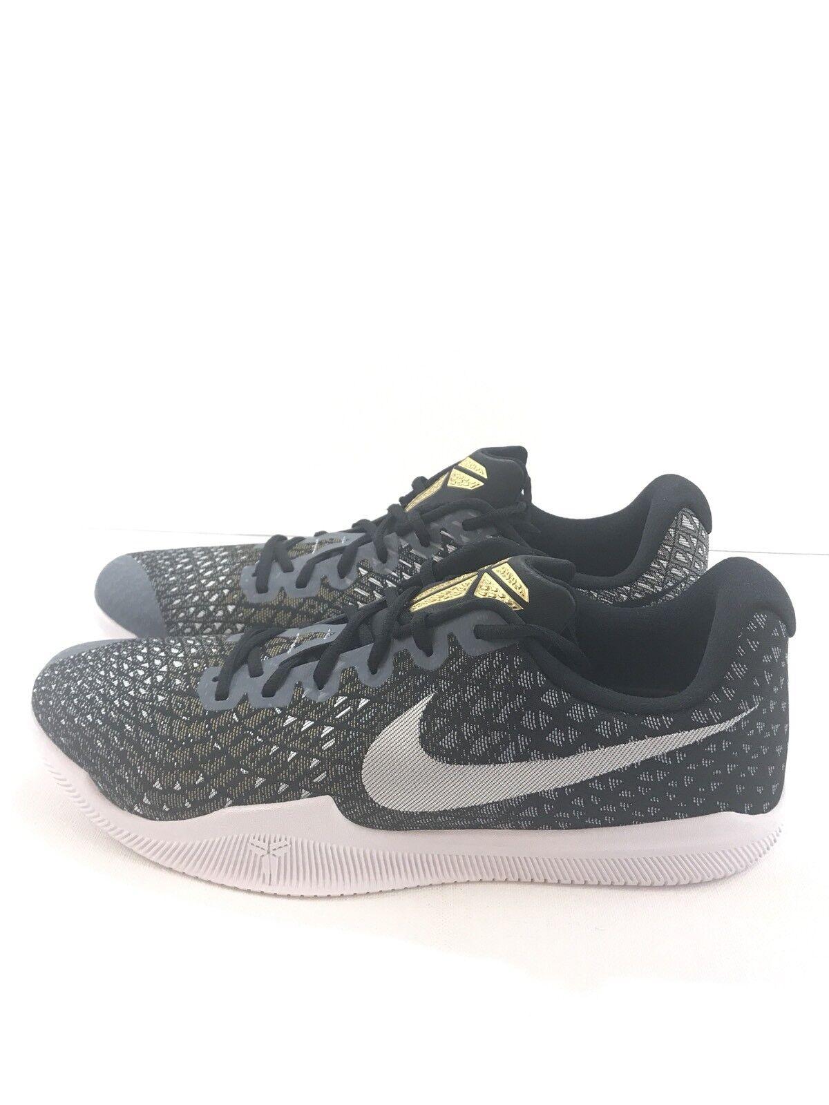 c400dd2ee7d497 Nike Mens Kobe Mamba Instinct Shoes Black Black Black White Grey Gold  852473-010 Size