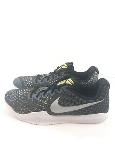 69d0d8d0488d Nike Mens Kobe Mamba Instinct Shoes Black White Grey Gold 852473-010 ...