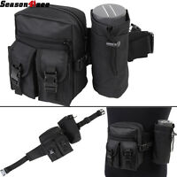 Tactical Molle Buckle Waist Belt Swat Bag With Water Bottle Bag&tool Pouch Black