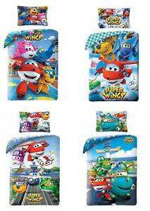 Super Wings Planes Single Duvet Cover Bedding Set 100/% cotton
