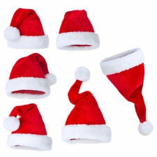 Lot Soft Plush Ultra Thick Santa Claus Patry Christmas Cap Hat for Adult Kids