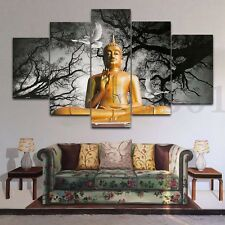 Huge Buddha Abstract Canvas Art Oil Painting Modern Home Wall Decor Set No Frame