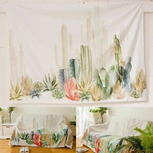 Image Is Loading 150 150cm Cactus Desert Plant Tapestry Wall Hanging