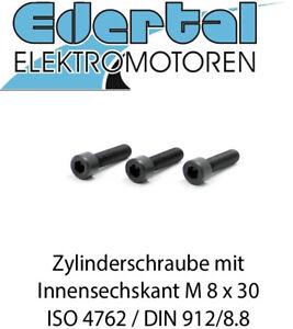 Zylinderschrauben mit Innensechskant DIN 912 8.8 Stahl blank M 8