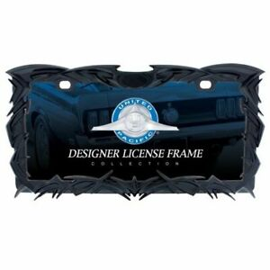 United-Pacific-TRIBAL-FLAME-LICENSE-PLATE-FRAME-BLACK-Model-50114