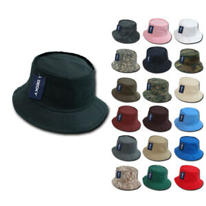 8edd0d0fb Details about Decky Fisherman's Bucket Hats Caps Constructed Cotton 2 sizes  Unisex