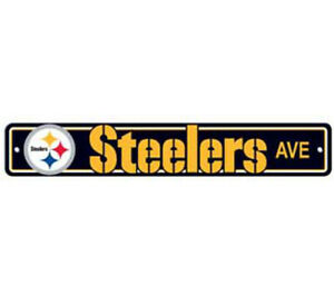 Pittsburgh-Steelers-Ave-Street-Sign-4-034-x24-034-NFL-Football-Team-Logo-Man-Cave