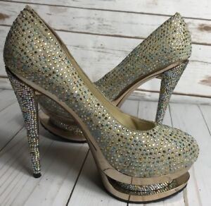 17a293ae4cf Image is loading Gianmarco-Lorenzi-Double-Platform-Swarovski-Crystal- Stiletto-SZ-