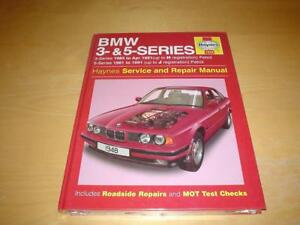 haynes bmw 3 5 series e30 e34 e28 318 320 325 520 525 i owners rh ebay co uk BMW E29 BMW E21