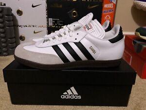 the best attitude 415b5 bd0a8 Image is loading NEW-Adidas-Samba-Classic-White-OG-Lifestyle-Indoor-