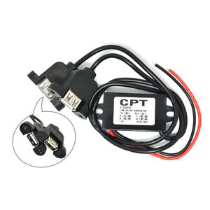 Dual-USB-Voiture-Puissance-Convertisseur-Telephone-Chargement-courant-direct-Direct-Current-Step