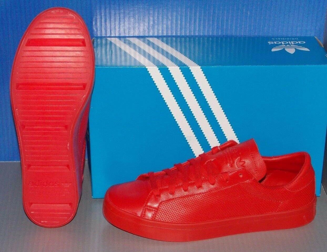 MENS ADIDAS COURTVANTAGE COURTVANTAGE COURTVANTAGE ADICOLOR in colors RED   RED   RED SIZE 9 8b8186