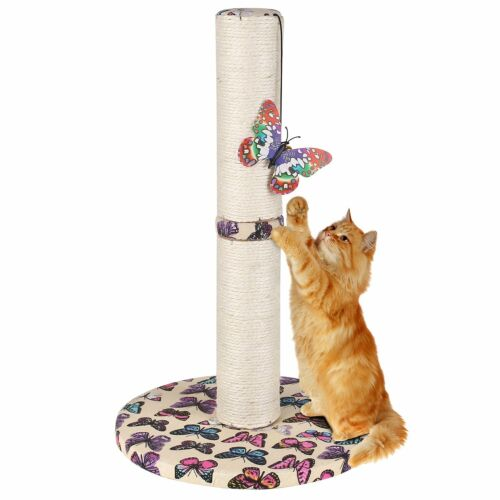 Cat Tree Scratcher Play House Furniture Kitty Scratching Post  w// Toys Carpet