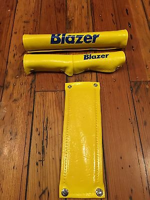Vintage NOS 80's Dorcy Yellow Motocross MX Grips Old School BMX