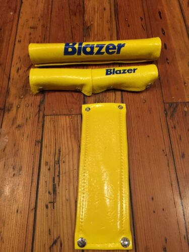 NOS Vintage Old School 80/'s Yellow Blazer RAD PAD BMX Pad Set