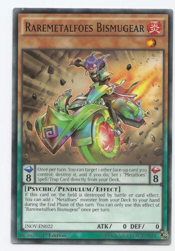 Raremetalfoes Bismugear INOV-EN022 Yu-Gi-Oh 3 x Common Card 1st Edition New