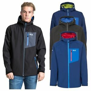DLX-Wallis-DLX-Mens-Softshell-Jacket-Hooded-Lightweight-Hiking-Coat