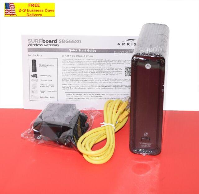 ARRIS TG862 DOCSIS 3.0 Cable Modem WiFi 4 Port Router Comcast Xfinity 343 Mbps