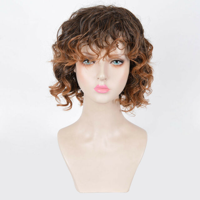 Women S Curly Short Bob Brown Ombre Blonde Dyed African American