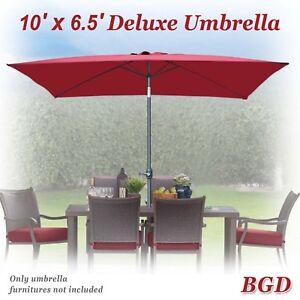 10 X 65 Patio Umbrella With Tilt And Crank 6 Ribs Garden Parasol