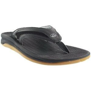 0f079d72906 Reef FLEX Black Silver Arch Support Flex EVA Footbed Sandals Men s ...