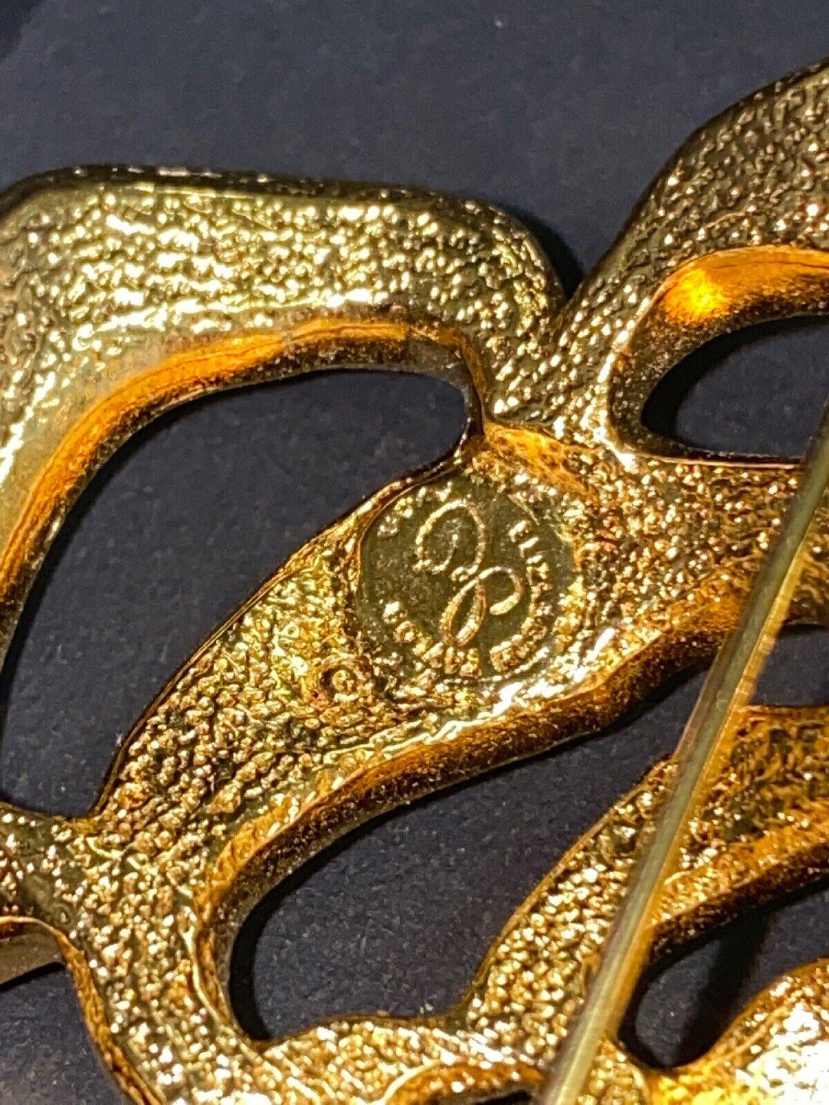 Vintage Elizabeth Taylor Crystal Paved Roze Pin - image 5