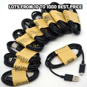 10-1000-Wholesale-Lot-Black-Micro-USB-Cable-Charger-Cord-Samsung-Galaxy-S7-S6-S5