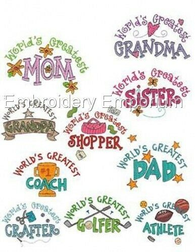 MACHINE EMBROIDERY DESIGNS ON CD OR USB WORLD/'S GREATEST COLLECTION