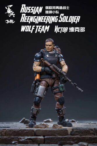 JOYTOY 1//18 Russian Aeengineering Soldier Wolf Team Victor PVC Action Figure Toy