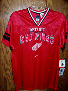 quality design d63f4 8bfe7 Details about Detroit Red Wings Youth Soccer style Jersey