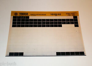Microfich-Spare-Parts-Catalog-Yamaha-Yb-100-from-1982