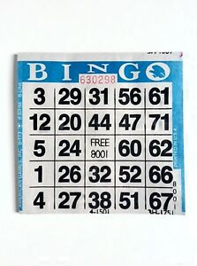 Green Border 1 on Single Face Pushout//Punchout Bingo Paper Cards Pack of 250