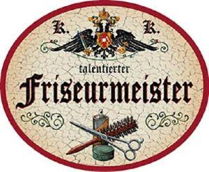 Friseurmeisterin Nostalgieschild