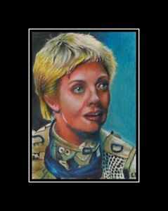 ACEO-Stargate-SG-Samantha-Carter-painting-Amanda-Topping-miniature-art-card