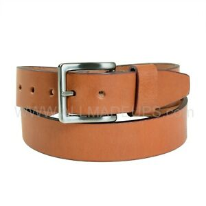 THE-COGNAC-TAN-Handcrafted-Leather-Belt-Buff-Leather-1-5-034-38-mm-Wide