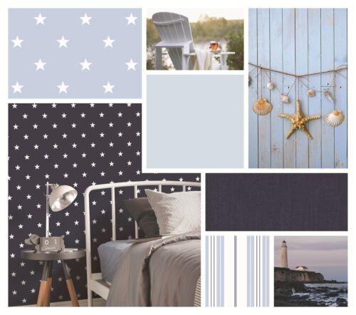 Essener Tapete Coast to Coast G23352 schwarz weiß Sterne Vliestapete Vlies