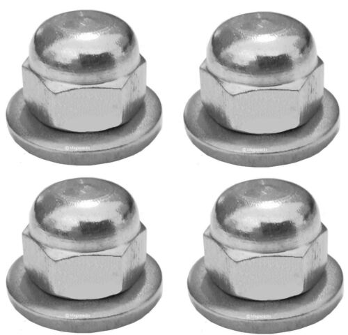 A2 Rear Shock Absorber M10 Dome Nuts x4 Thick Washers - Suzuki GT750