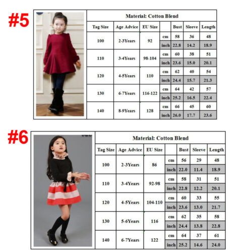 Kinder Mädchen Langarm Kleider Kostüm Tutu Tullkleid Festkleid Party Abendkleid