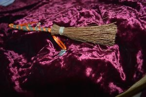 Details about Hand Made Small Besom/Broom stick, Protection, Luck, Yule  Decoration,