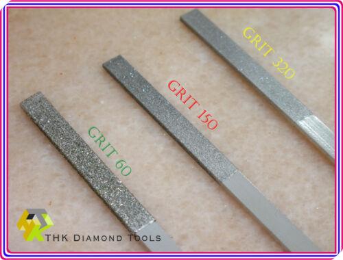 6 tlg 180mm THK Diamant Flache und Halbrund Feilen 3 Splitt marmor modell feile