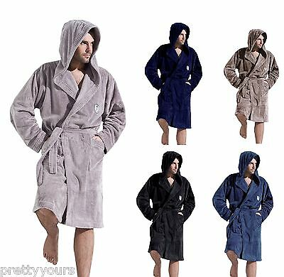 Men Gents Luxury SOFT Bath Robe Housecoat Dressing Gown Bathrobe Size M L XL XXL