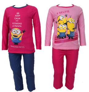 Kinder-Pyjama-Neu-Maedchen-Schlafanzug-Maedchen-Pyjama-2-Tlg-Kinder-Pulli-Hose