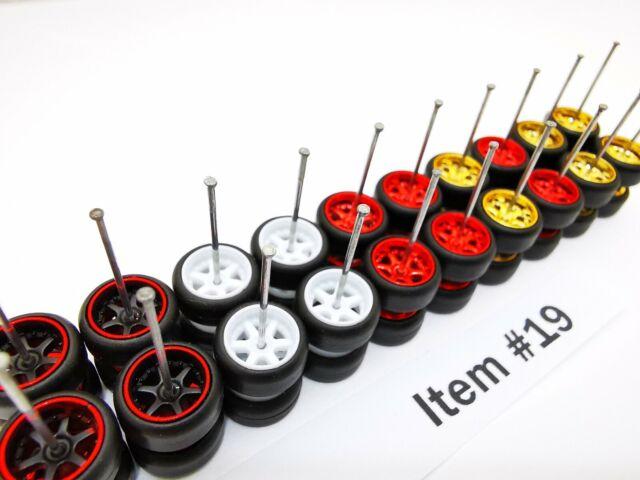 10 set MIX 6 spoke /& 5 bolt Samed Wheels premium rubber wheels for HW 1:64 cars