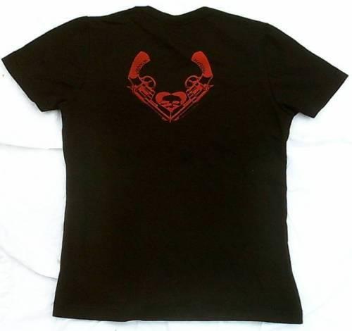 Rare Unworn Bravado Official BULLET FOR MY VALENTINE Holes Black ViP T-Shirt S 6