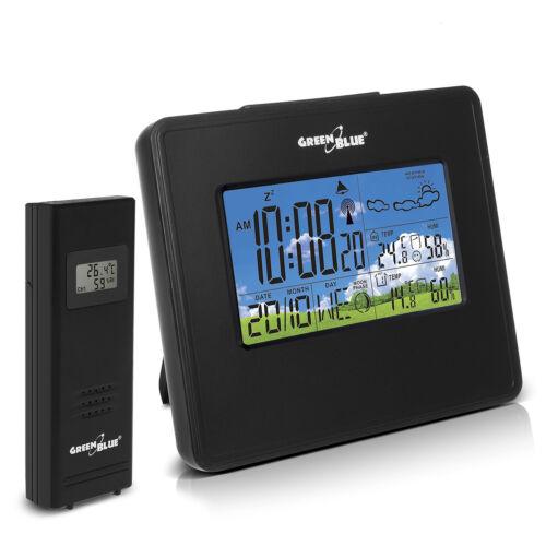 Wetterstation Hygrometer Thermometer Wecker 2 Farben Mondphase Wettervorhersage