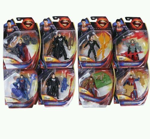 DC COMICS  SET 8 8 8 FIGURAS SUPERMAN 10 CM- ACTION FIGURES 4  IN BLISTER e65f13